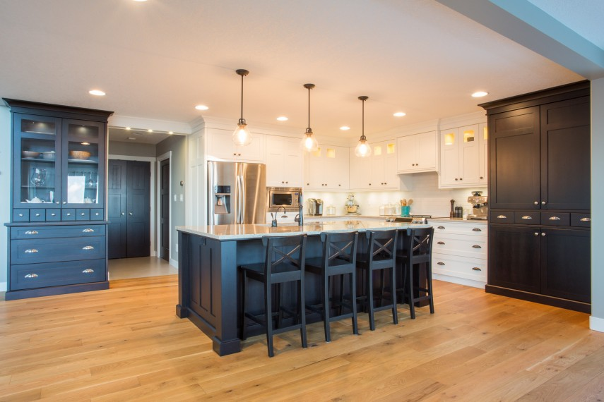 Black Walnut And White Cabinet Kitchen Tom S Solid Wood Furniture Quality Kitchen Cabinets Custom Woodwork Bc
