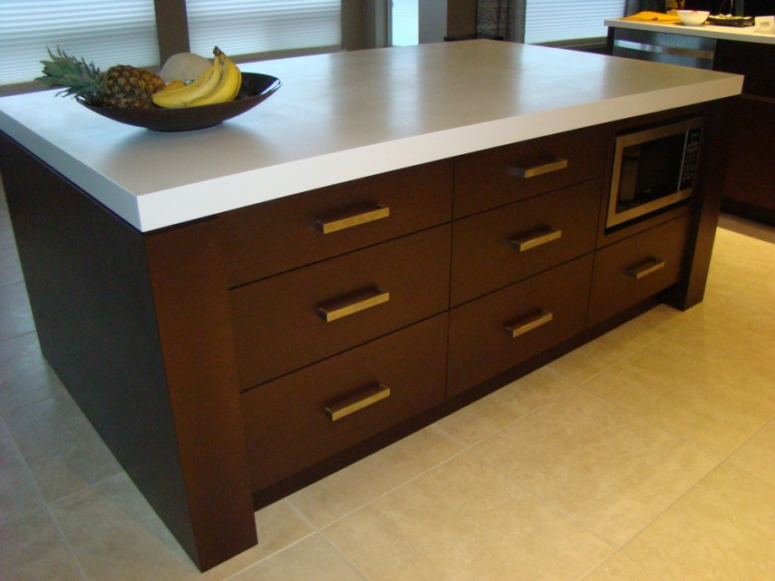 Wenge Kitchen Island   Tom's Solid Wood Furniture ...